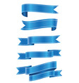 set of blue ribbon banner ico vector image vector image