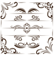 set of bookplates and corners for design vector image vector image