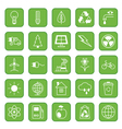 Set of flat icons Ecology and Environment vector image vector image