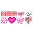 set of happy mother s day prints hand-writing vector image