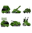 six military vehicle vector image vector image