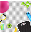 sport fitness border vector image vector image
