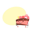 sweet humanized biscuit tiramisu character vector image vector image