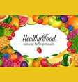 template with fruits and beries vector image vector image