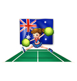 The flag of Australia with a young cheerdancer vector image vector image