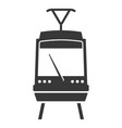 train black icon electric subway platform symbol vector image vector image