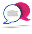 Two polygonal speech bubble chat pink and blue vector image vector image