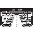Underground car parking vector image vector image