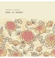 Vintage brown pink flowers horizontal frame vector image vector image