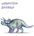 watercolor dinosaur vector image vector image