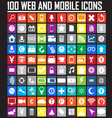 Website icons collection vector image
