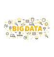 words big data surrounded by icons vector image vector image