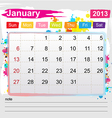 Calendar January 2013 vector image
