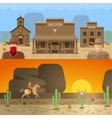 Wild West Colored Concepts vector image
