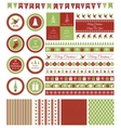 Set of design elements for Christmas party vector image