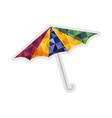 sun umbrella isolated icon vector image