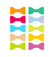 beautiful colored mens bow ties vector image