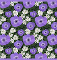 a floral poppy pattern vector image