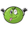 a green lemon vector image vector image