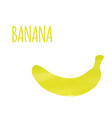 Abstract Colorful Watercolor Banana isolated vector image
