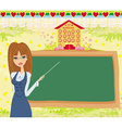 abstract frame school - teacher and blackboard vector image vector image