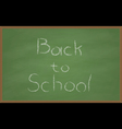 Back to School Chalk Board vector image vector image