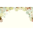 Background with frame with Autumn Leafs EPS 8 vector image vector image