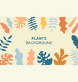 background with plants vector image