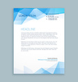 Blue abstract shapes letterhead template