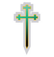 blue and green symbol an aaronic order church vector image vector image