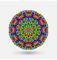 bright color circular kaleidoscope pattern vector image