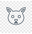 bunny toy concept linear icon isolated on vector image