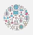 chemical round vector image vector image