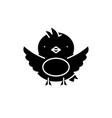 chick black icon sign on isolated vector image