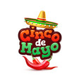 cinco de mayo mexican party poster banner vector image vector image