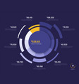 circle chart design modern template vector image vector image