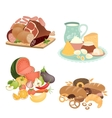 Collection of food items vector image vector image