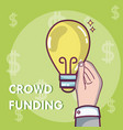 crowdfunding money business vector image