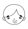 cute little boy head character vector image