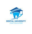 dental university logo designs vector image vector image