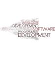 developement word cloud concept vector image vector image