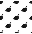 dustpan icon in black style isolated on white vector image