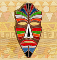 Ethnic mask on vintage background vector image vector image