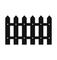 Fence black simple icon vector image