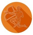 Flat icon of zodiac sign Saggitarius vector image vector image