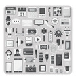 flat icons smartphone set vector image vector image