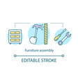 furniture assembly concept icon service for home