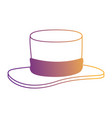 gentleman hat cilinder icon vector image