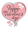 hand drawn greeting card happy valentine day vector image