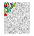 Hand drawn hearts coloring page Doodle vector image